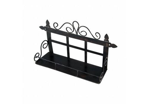 French Kitchen Collection French Kitchen Collection Small Rack with 1 Shelf Iron Antic Finish