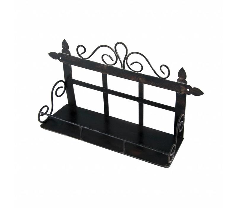 French Kitchen Collection Small Rack with 1 Shelf Iron Antic Finish