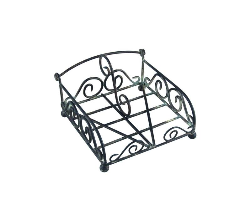 French Kitchen Collection Napkin Holder Cocktail Iron Antic Finish