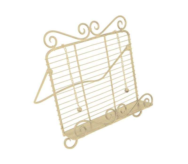 French Kitchen Collection Cook Book Stand, Ivory White