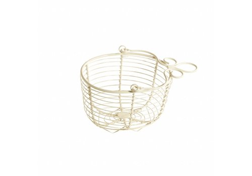 French Kitchen Collection Hanging Basket 15x12xH11 cm, Cream