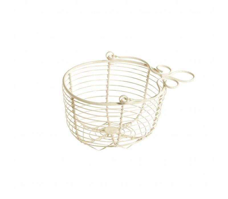 Hanging Basket 15x12xH11 cm, Cream