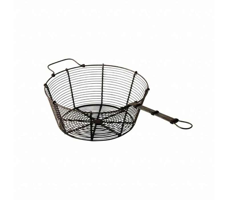 French Kitchen Collection Strainer ø20x41xH9 cm Black