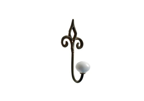 French Kitchen Collection French Kitchen Collection Kleine Haak Porseleinen Knop IJzer