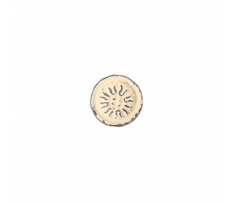 "VK3C French Kitchen Collection ""Vintage"" Knob, Ivory Yellow"