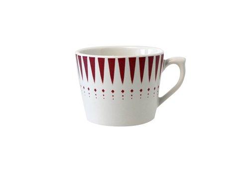 Dépôt d'Argonne Dépôt d'Argonne Cappuccino Cup Arlequin, Red