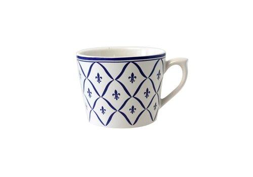 Dépôt d'Argonne Dépôt d'Argonne Cappuccino Cup Fleur de Lys, Blue