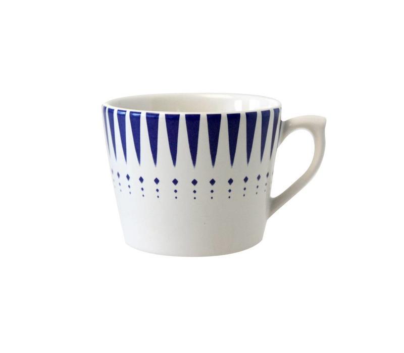 Dépôt d'Argonne Cappuccino Cup Arlequin, Blue