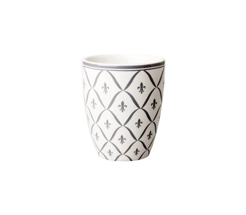 Dépôt d'Argonne Mug Fleur de Lys, Grey
