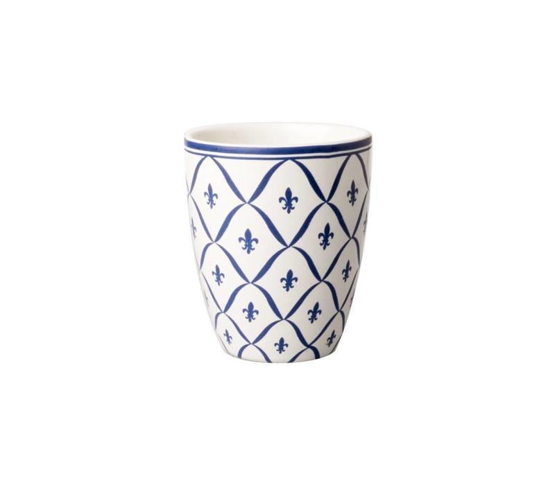 Dépôt d'Argonne Mug Fleur de Lys, Blue