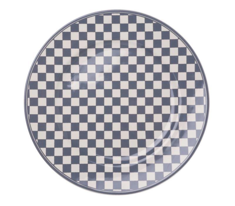 Dépôt d'Argonne Dinner Plate 27cm Damier, Grey