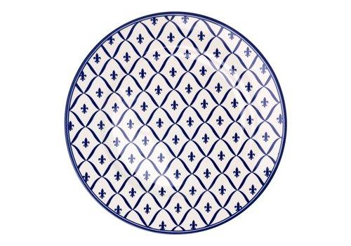 Dépôt d'Argonne Dépôt d'Argonne Dinner Plate 27cm Fleur de Lys, Blue