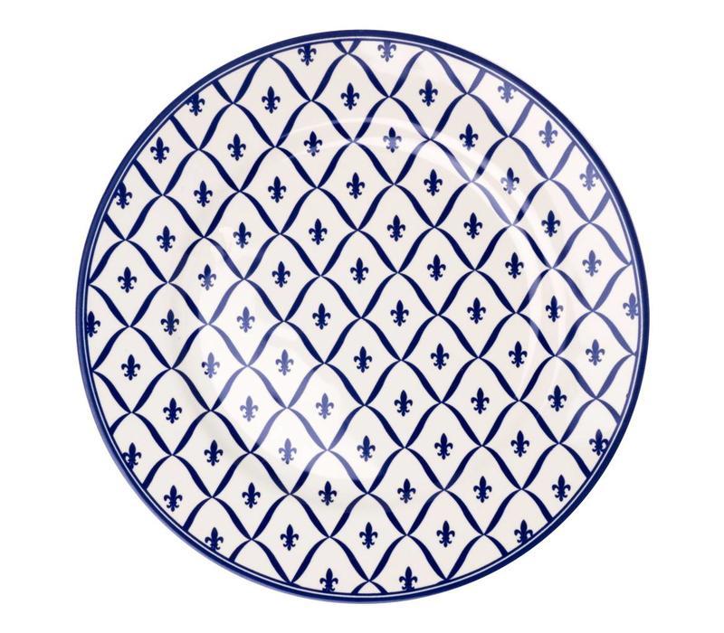 Dépôt d'Argonne Dinner Plate 27cm Fleur de Lys, Blue