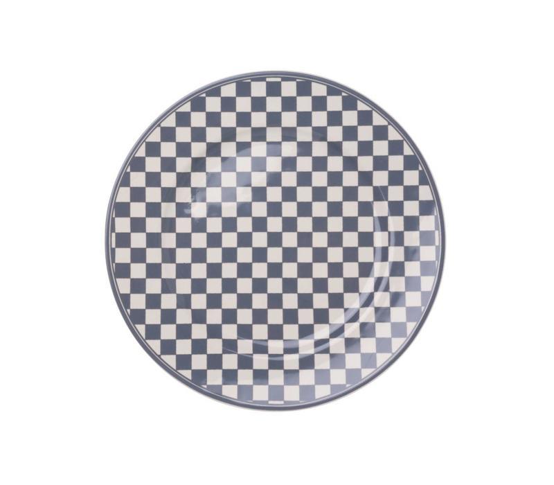 Dépôt d'Argonne Breakfast Plate 23cm Damier, Grey