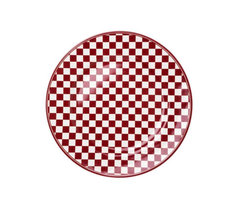 Dépôt d'Argonne Breakfast Plate 23 cm Damier, Red