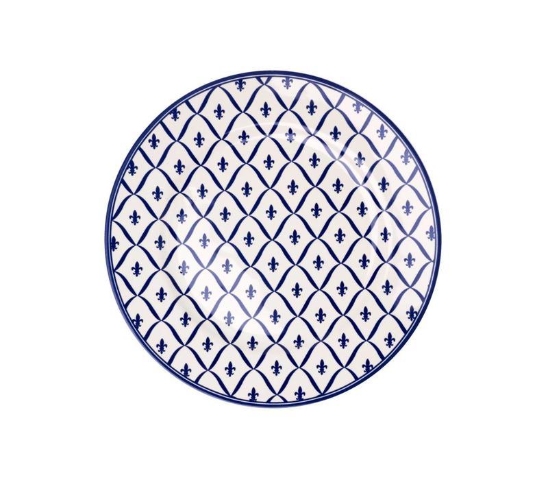 Dépôt d'Argonne Breakfast Plate 23cm Fleur de Lys, Blue