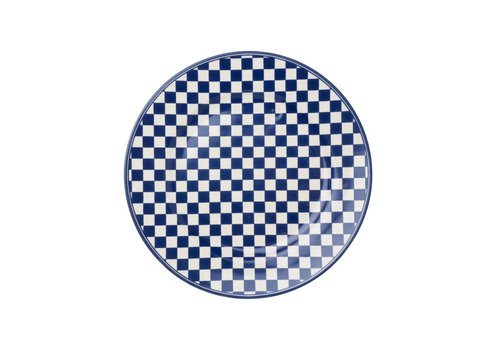 Kom Amsterdam Dépôt d'Argonne Breakfastplate 23cm Damier, Blue