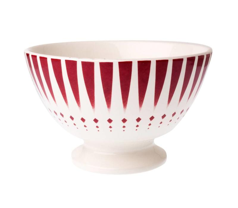 Dépôt d'Argonne Bowl Large Arlequin, Red