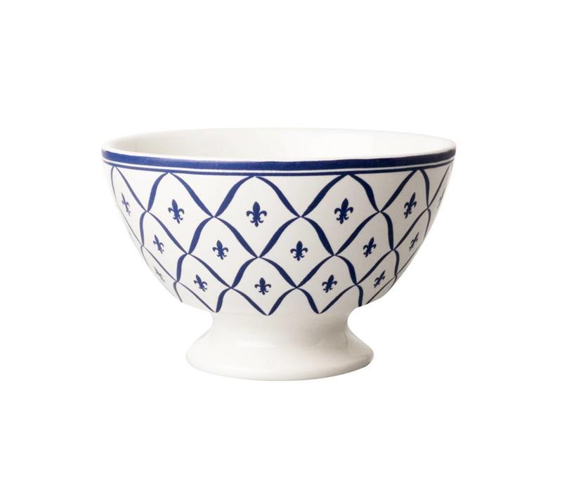 Dépôt d'Argonne Bowl Medium Fleur de Lys Blue NEW