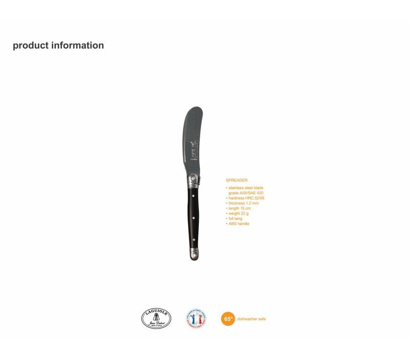 Laguiole 4 Butter Knives Black in Box