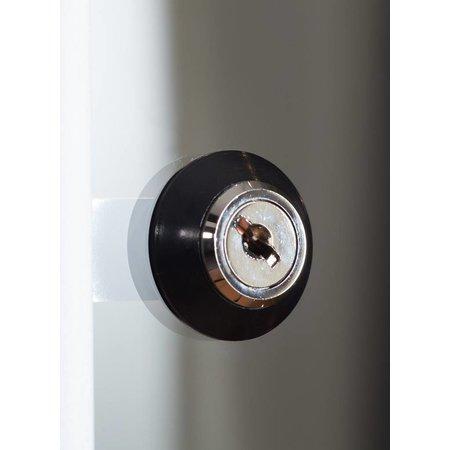Vitrinekast LED 40 zwart 40x40x200 cm