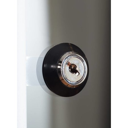 Vitrinekast LED 80 zwart 80x40x200 cm