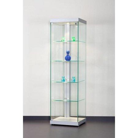 Design vitrine Dutch 50 zilver 50x44x180