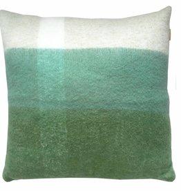 Pea green mohair cushion  (1 March)