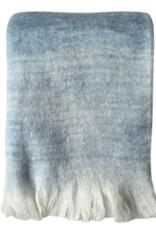 Tye dye blue mohair throw