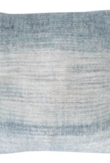 Tye dye blue mohair cushion