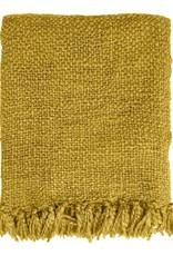 Mustard yellow throw