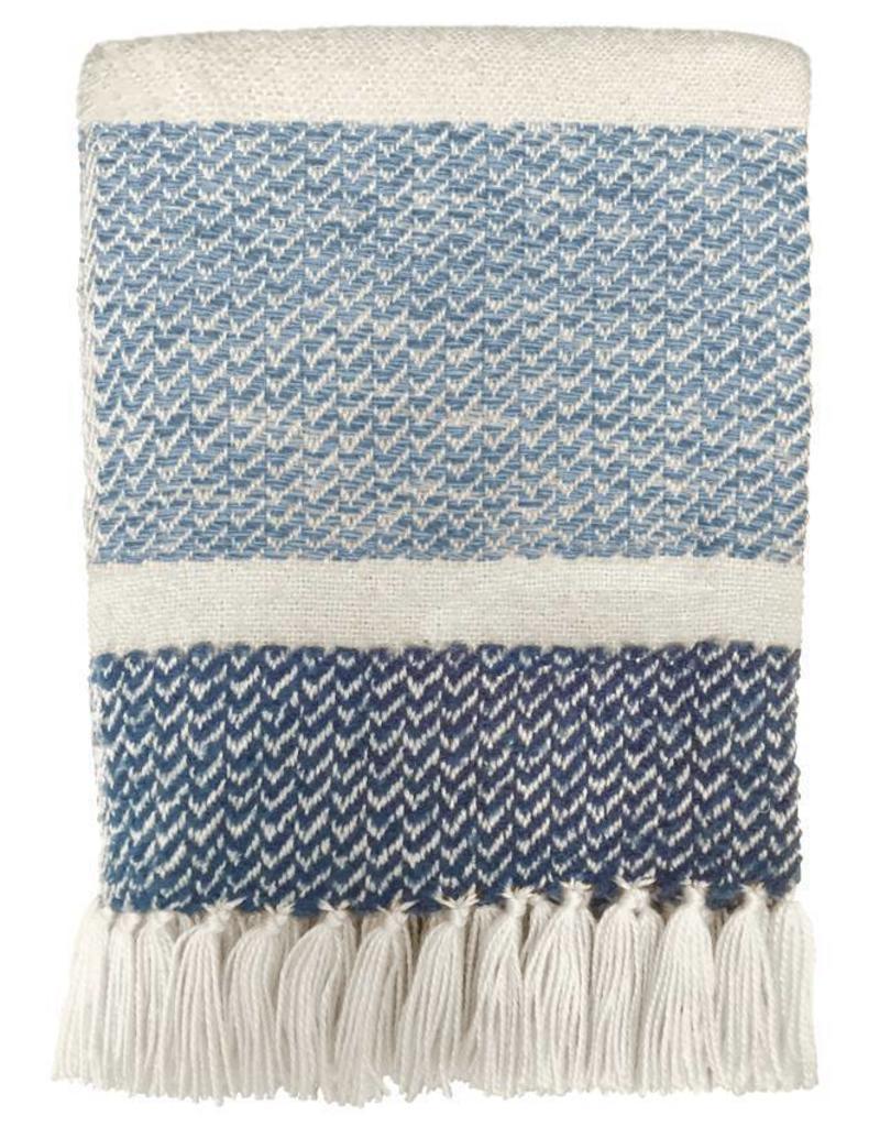 Berber grainy blue throw