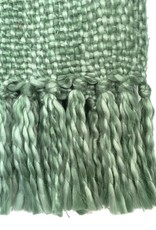 Marble green throw