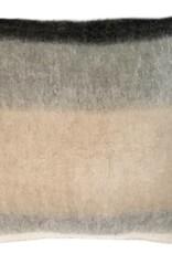Black mohair cushion