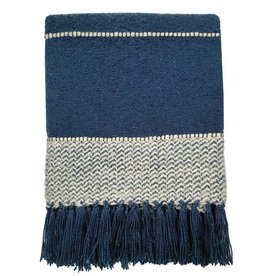 Berber dark blue throw  (1 March)