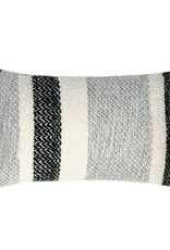 Berber grainy black cushion