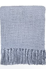 Lavender blue solid throw