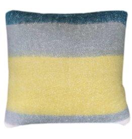 Dark lead blue mohair cushion  (1 March)