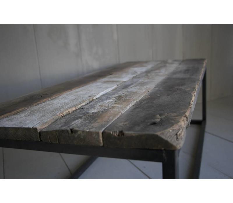 Salontafeltje oud donker eikenhout
