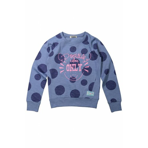 Girls sweater positive vibes