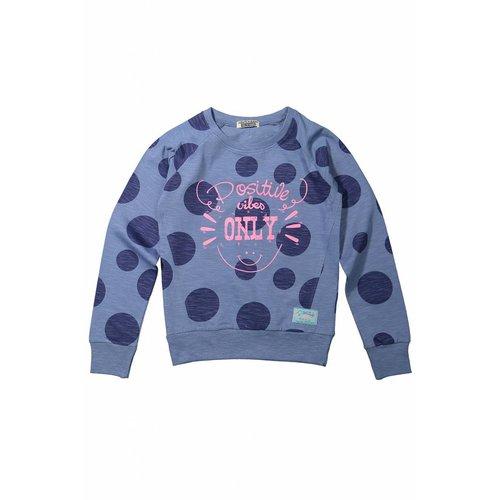Meisjes sweater positive vibes