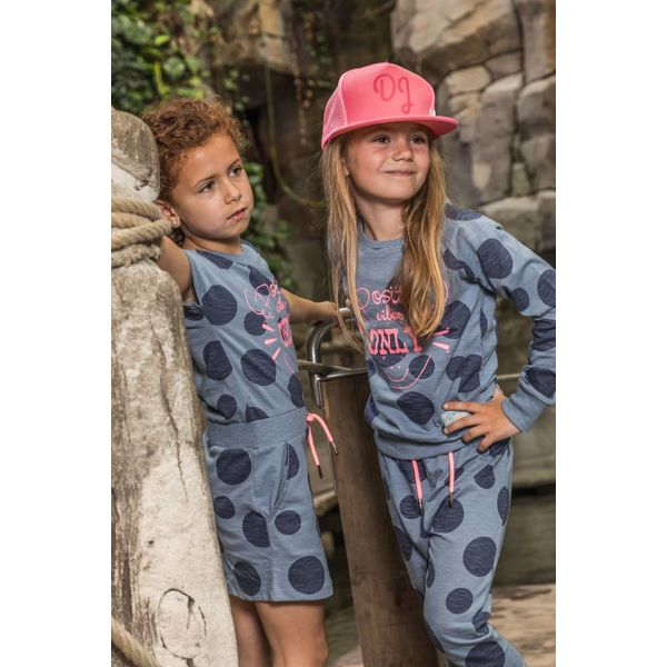 Meisjes sweater positive vibes met print | DJ DUTCHJEANS