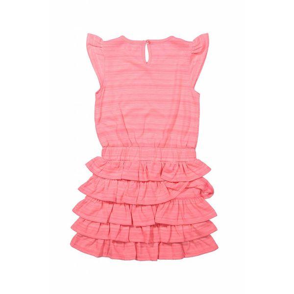 Meisjes jurk positive vibes met ruffles | DJ DUTCHJEANS