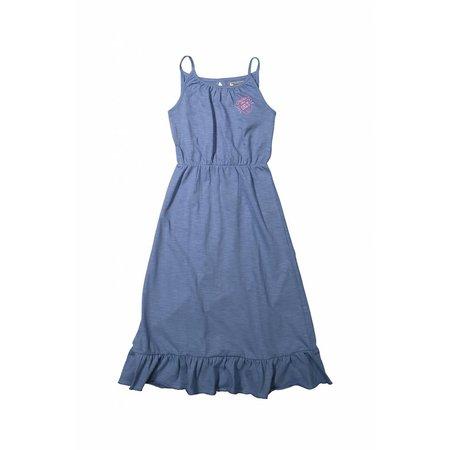 Meisjes lange jurk positive vibes