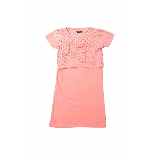 Meisjes jurk love pink