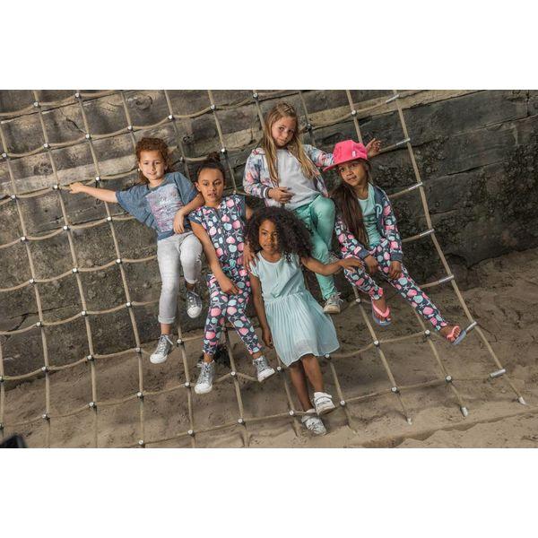 Meisjes joggingbroek don't think too much met schelpen print | DJ DUTCHJEANS