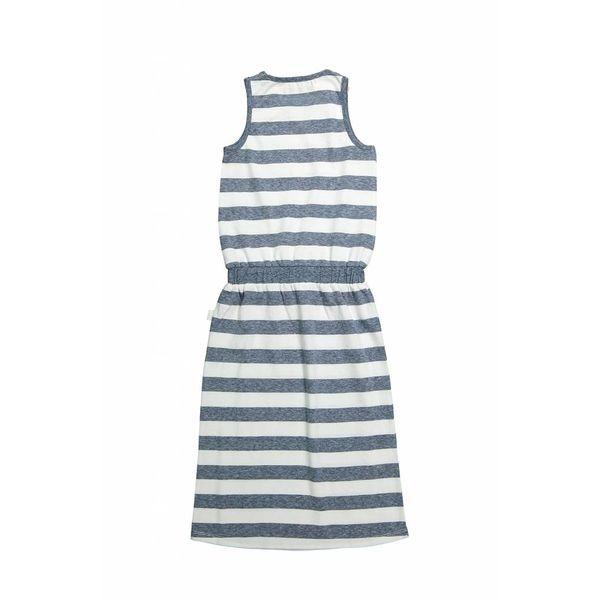 Meisjes lange jurk don't think too much met strepen | DJ DUTCHJEANS