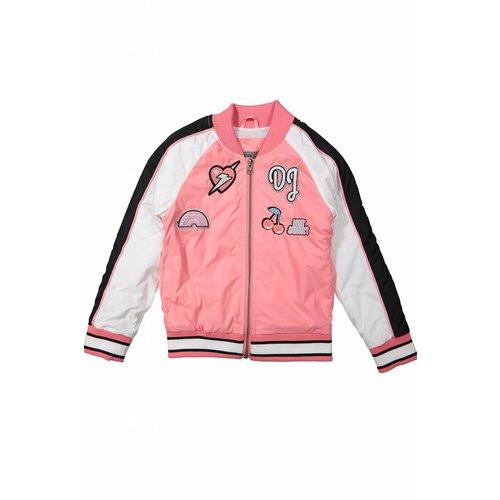 Meisjes bomberjack love pink