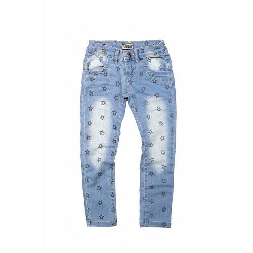 Meisjes jeans positive vibes