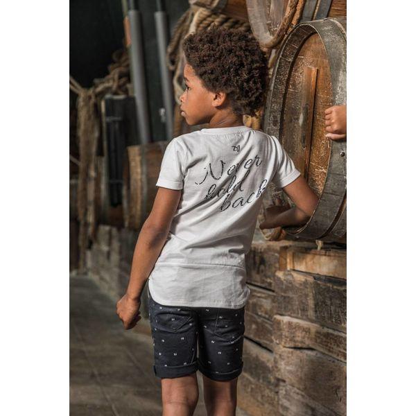 Jongens T-shirt extra lang never hold back met print op achterzijde | DJ DUTCHJEANS